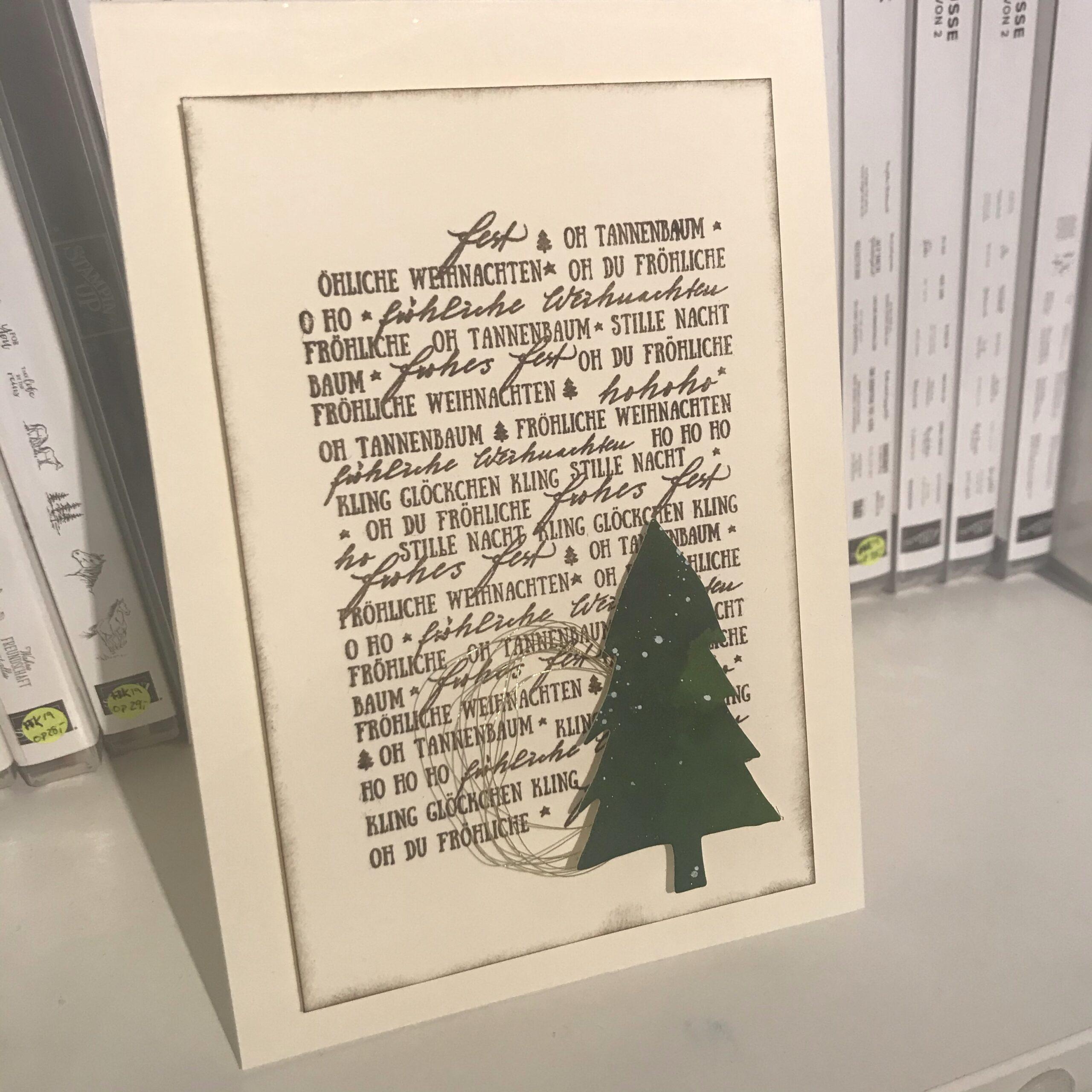 Weihnachtskarten über Weihnachtskarten